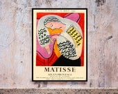 Reprint of a 1960 French exhibition Poster for works by Matisse
