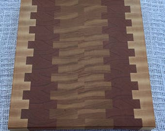 End Grain Cutting Board - Maple and Cherry