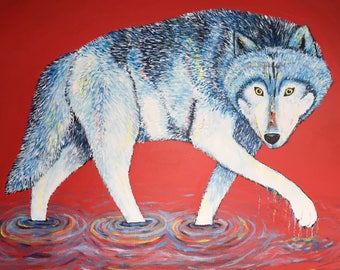 Abstract Wolf Painting