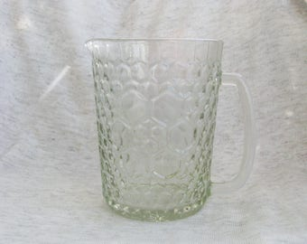 Honeycomb glass pitcher - Home decor - Made in USSR