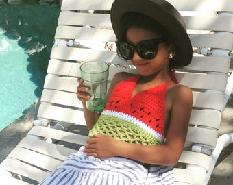 Watermelon Child Organic  Crochet Top