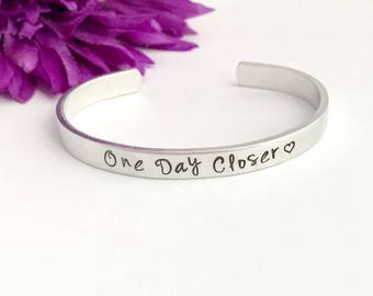 One day closer - inspirational bracelet - deployment - trip - wedding date- anticipation for - one more day - travel - i love you