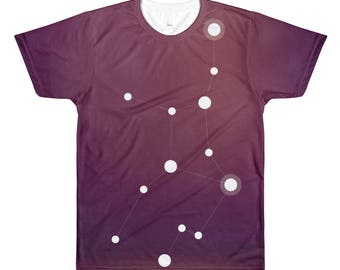 All-Over Printed T-Shirt - Zodiac Virgo Constellation All-Over T-Shirt
