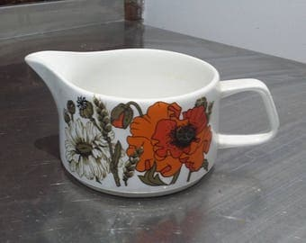 Large J and G Meakin Poppy Poppies Large Jug