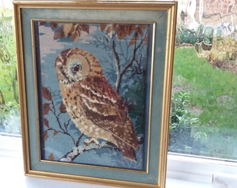 Large Vintage Retro Owl Tapestry.