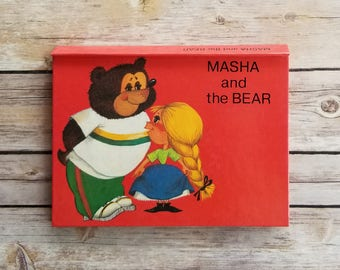 Masha And The Bear Russian Fairy Tale Pop Up Book Rare Book Title Russian Kids Book Bear Fairy Tale Grandparents Tale Gift Rare Book Present