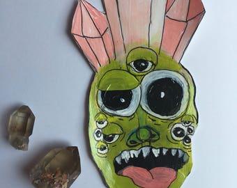 Crystal crazy original hand painted art sticker