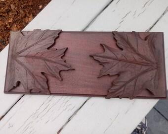 Bookshelf Folding Carved Leaves Walnut Victorian Unusual 1880's