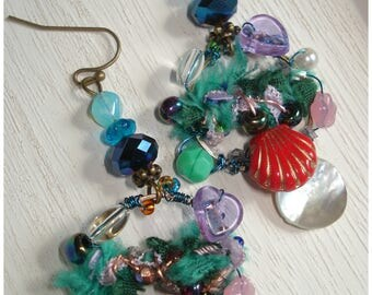 Mermaid treasures - Magical, earrings for a pretty Mermaid boho