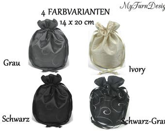 Pompadour, bag, evening bag, ridicule, dance night, festive, bridal bags, wedding, Dirndl bag, Oktoberfest, black, white, grey
