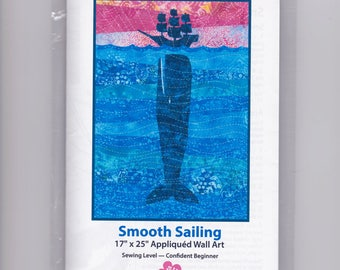 Smooth Sailing, Whale and Ship Wall Hanging Sewing Pattern