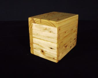 wood pet urn small