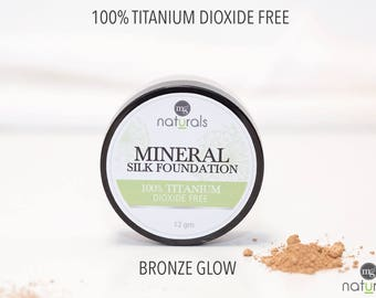 Vegan powder foundation, Cruelty free makeup, No Titanium Dioxide, 12gm size, BRONZE GLOW - 6 shades to choose from