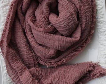Dusty Rose Crinkle Hijab
