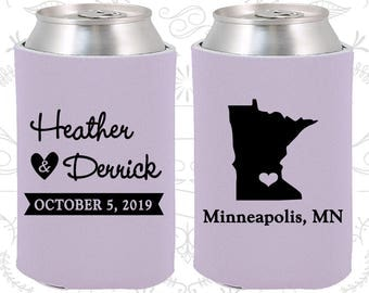 Lilac Wedding, Lilac Can Coolers, Lilac Wedding Favors, Lilac Wedding Gift, Lilac Party Gift (122)