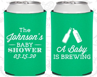 A Baby is Brewing, Baby Shower Decorations, Gender Reveal Baby Shower, Gender Reveal Party Ideas, Baby Shower Can Cooler (90116)