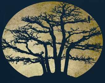 Tree  Stencil for Art and Decor,  ST66
