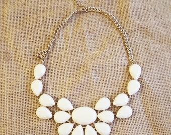 Vintage White Acrylic Necklace