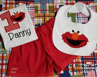Boy Elmo Birthday Shirt or Outfit