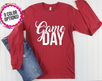 Game Day Shirt/ Long Sleeve Game Day/ Long Sleeve Football Shirt/ Football Mom Shirt/ Football Shirt/ College Football/ High School Football
