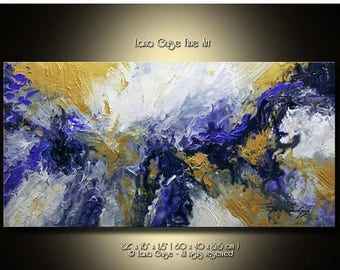 Summer Sale Abstract Painting Modern Textured Palette Knife by Lana Guise