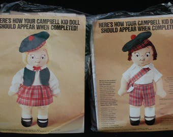 NIP Campbell Kid Doll Kids 2 Dolls Packages New Complete Craft Toy Plush