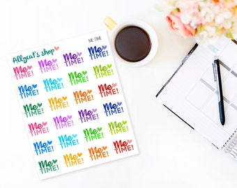 Me Time Stickers - Planner Stickers