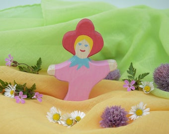 Flower Child Rose, Nature Table, Wooden Toys, Wood, Deco