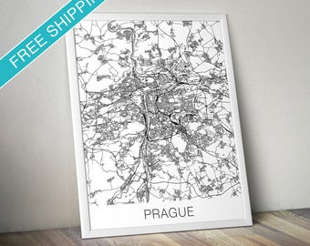 Prague Map Print