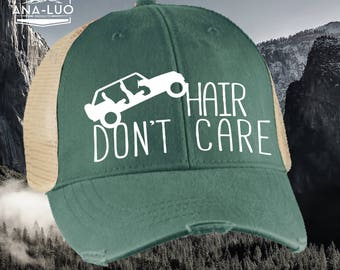 Jeep Hair Don't Care Forest Green Mesh Hat - 60