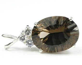 On Sale, 30% Off, Smoky Quartz, 925 Sterling Silver Pendant, SP016
