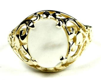 On Sale, 30% Off, Mother of Pearl, 18KY Gold Ring, R004
