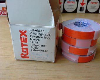 Orange Rotex Label tape  9.5mm by 4m - for 1 only