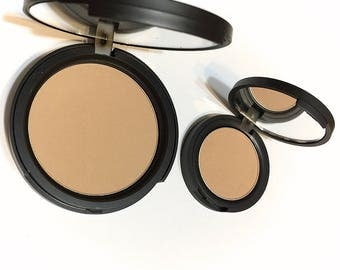 SOFT CARAMEL Natural Mineral Pressed Foundation or Setting Powder - Gluten Free Vegan Makeup