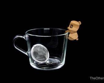 Tea Buddy™ Panda tea inrfuser, loose leaf tea, tea steeper, mesh tea ball, tea gift ideas, animal lovers gift, tea accessories, tea charm