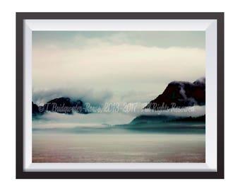 Mountain Art, Nature Home Decor, Landscape Photography, Landscape Art, Alaska, Mountain Art Print, Nature Photography, Nature Art Print