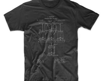 Brewing Beer Patent T Shirt, Drinking Shirt, Beer Shirt, Beer Gift, PP0080 Z1016