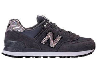 Women's New Balance 574 Shattered Pearl Made with SWAROVSKI® Crystals - Black/Magnet