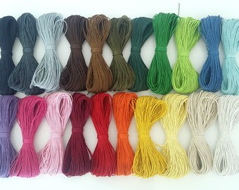 waxed cotton cord, string, braid,  1.5 mm wax cord - 10, 20, 40, 80 meters - Shamballa jewelry making