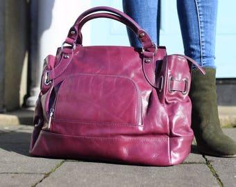 Leather Handbag, Leather Purse, Purple Leather Bag, Large Tote, Purple Leather Purse, Leather Hobo Purse, Leather Tote Bag, Messenger Bag