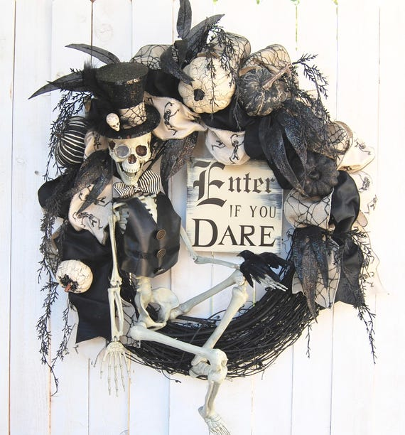Enter If You Dare Wreath