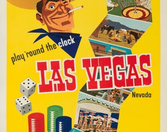 Union Pacific - Las Vegas, Nevada USA c. 1952 - Vintage Poster (Art Print - Multiple Sizes Available)