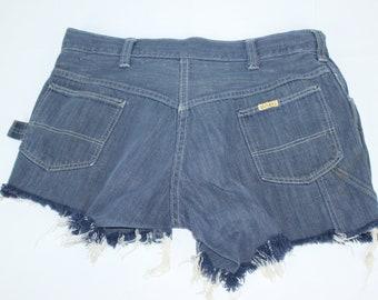 Men's Vintage Big Yank Size ? 32 Denim Blue Jeans Cut Off Shorts