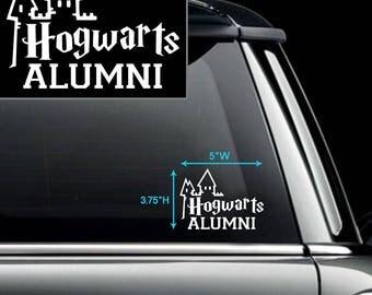 Hogwarts Alumni Car Decal
