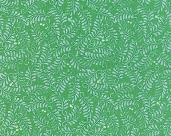 SOLSTICE - Impression in Laurel Green - Winter Cotton Quilt Fabric - by Kate Spain for Moda Fabrics - 27182-23 (W3934)