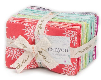 CANYON Fat Eighth Bundle - 35 Different Prints -  Cotton Quilt Fabric - by Kate Spain for Moda Fabrics 27220-F8 (W3913)