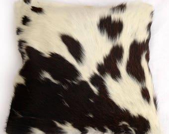 Natural Cowhide Luxurious Hair On Cushion/ Pillow Cover (15''x 15'') A102