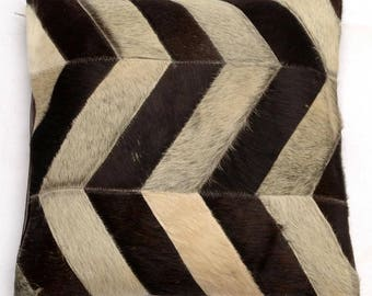 Natural Cowhide Luxurious Patchwork Hairon Cushion/pillow Cover (15''x 15'')a225