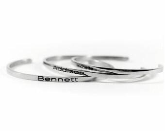 Stainless Steel Name Bracelet