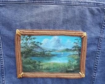 Hand Painted Denim Jacket, Custom Painted Jacket